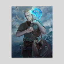 Aegir, the fisher - Canvas by Ivan Garcia