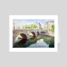 Paris, Pont neuf - Art Card by Jean-Sylvain Lapouge