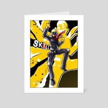 Persona 5 - Skull - Art Card by Dinhosaur