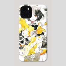 Ghostly Cats - Phone Case by koyamori