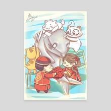 Save the Shark - Canvas by Yuz'ki