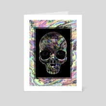 Party like it's the 90's Skull - Art Card by Andi GreyScale