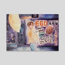Ego - Acrylic by mlygose