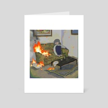 this is fine - Art Card by mememe
