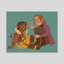 Veth and Caleb - Canvas by cozygnomes