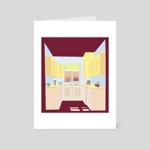 Small Kitchen - Art Card by Grey C C
