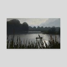 Cormorant - Canvas by Michiel van den Heuvel