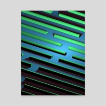 Maze - Canvas by Samuel Stroud