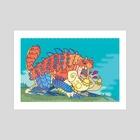 Tetsucabra - The Demon Frog - Art Print by Harris Fagotto