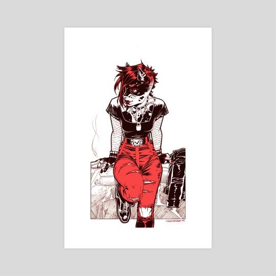 Lisbeth Salander Kitty style  by Belén Ortega