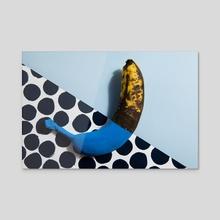 banana chameleon - Acrylic by Loulouvonglup