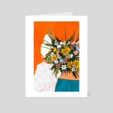 Happiness Is To Hold Flowers In Both Hands - Art Card by 83 Oranges