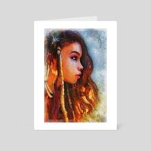 Yennenga - Art Card by Rick van de Moosdijk