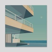 Modern House - Acrylic by Defaced  Studio