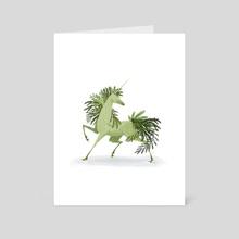 Evergreen Unicorn - Art Card by Katharine Henry