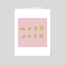 Hail Mary ASL-pink - Art Card by a creative almanac