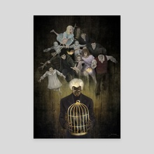 Miss Peregrine – The Cage - Canvas by Xav DRAGO
