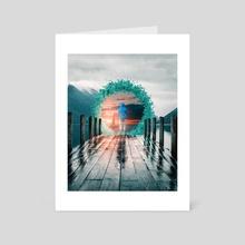 Portal Pier - Art Card by Anttoni Salminen