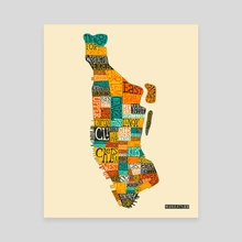Manhattan Neighborhoods - Canvas by Jazzberry Blue