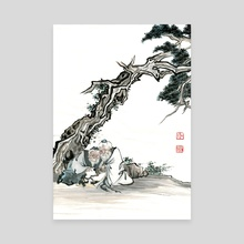 Chinese Figure - 2 - Canvas by River Han