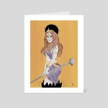 Monarch Woman - Art Card by Olivia Richardson