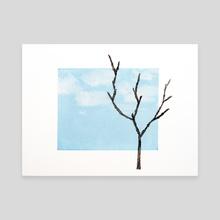 Over Blue Skies - Canvas by Joana Lourenço