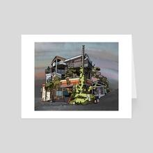 Overgrown House - Art Card by Jordan de Graaf