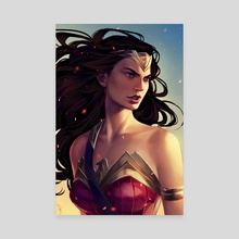 Wonder Woman - Canvas by Mioree .