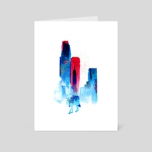 The wolf of the city - Art Card by Robert Farkas