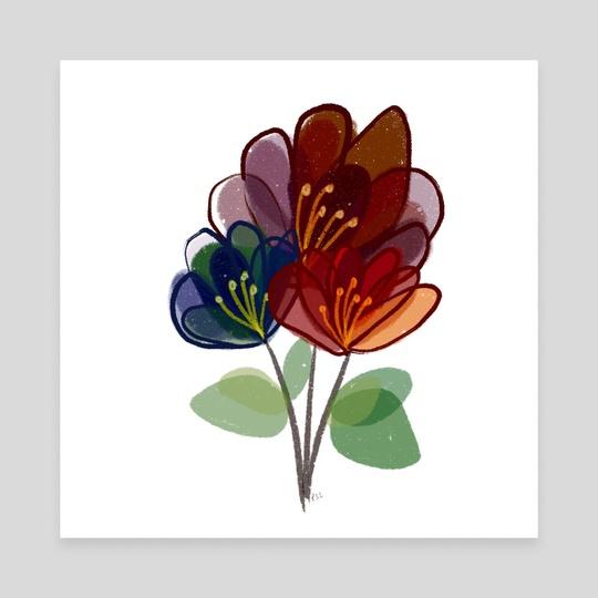Glass Flowers by Phyllis Sosa Lourenço