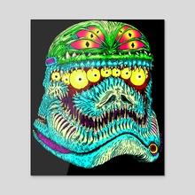 New Monster Trooper - Acrylic by Robert Israel