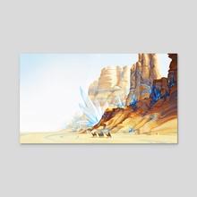 Bluestone Desert - Caravan - Acrylic by Ayla Meridian