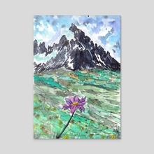 Mountain Flower - Acrylic by Sebastian Grafmann