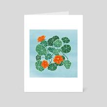 Summer Nasturtium - Art Card by Zach Hill