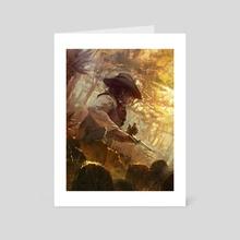 Cowboy - Art Card by Marcel Nowotny