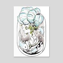 Thalassa - Acrylic by Lucy Kyriakidou
