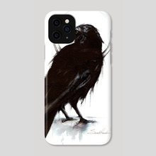 Raven - Phone Case by Sarah Hawkinson-Patil