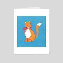 Fox - Art Card by Tanya Doodles