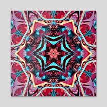 Pink Kaleidoscope - Acrylic by Franky Plata
