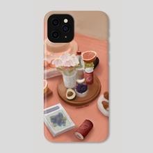 Peachy Beach Picnic - Phone Case by Andrea Marquez