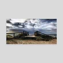 Hengistbury Head Panorama - Canvas by Adrian Brockwell