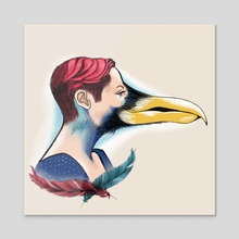 Bird - Acrylic by Brandy Bingham