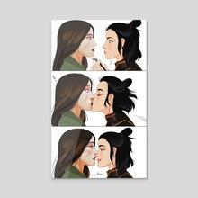 Lipstick - Acrylic by Shi-vu