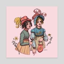 Regency Ladies - Canvas by Miranda Moorhead