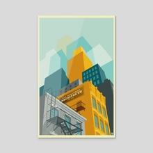 Tribeca New York City - Acrylic by Remko Gap Heemskerk