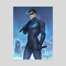 Nightwing - Canvas by Guilherme Prieto