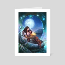 Astrology- Cancer - Art Card by Julie Dillon