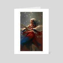 chinese opera - Art Card by Jian Guo