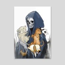 A not so grim reaper - Acrylic by Jenny Jinya