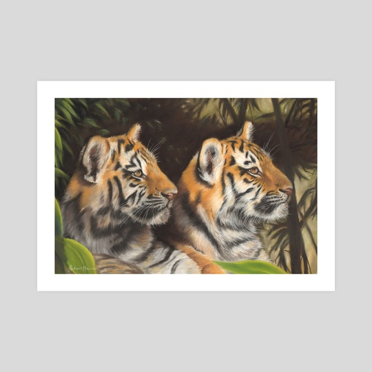 Tiger Cubs by Richard Macwee